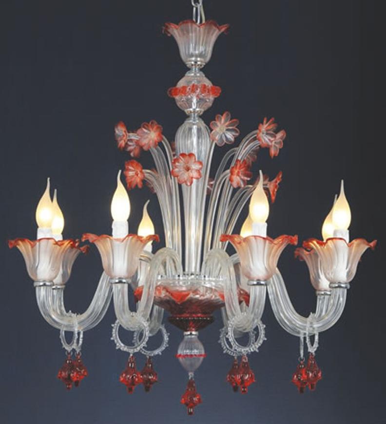 Hand made murano style chandelier home and furniture lighting hand made murano style chandelier aloadofball Choice Image
