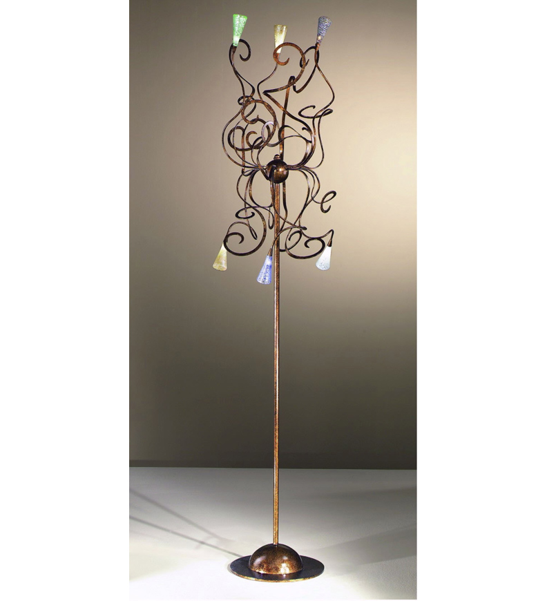 new arrival 69457 9500d Schizzo Design Floor Lamp With Hand Bent Arms And Blown ...
