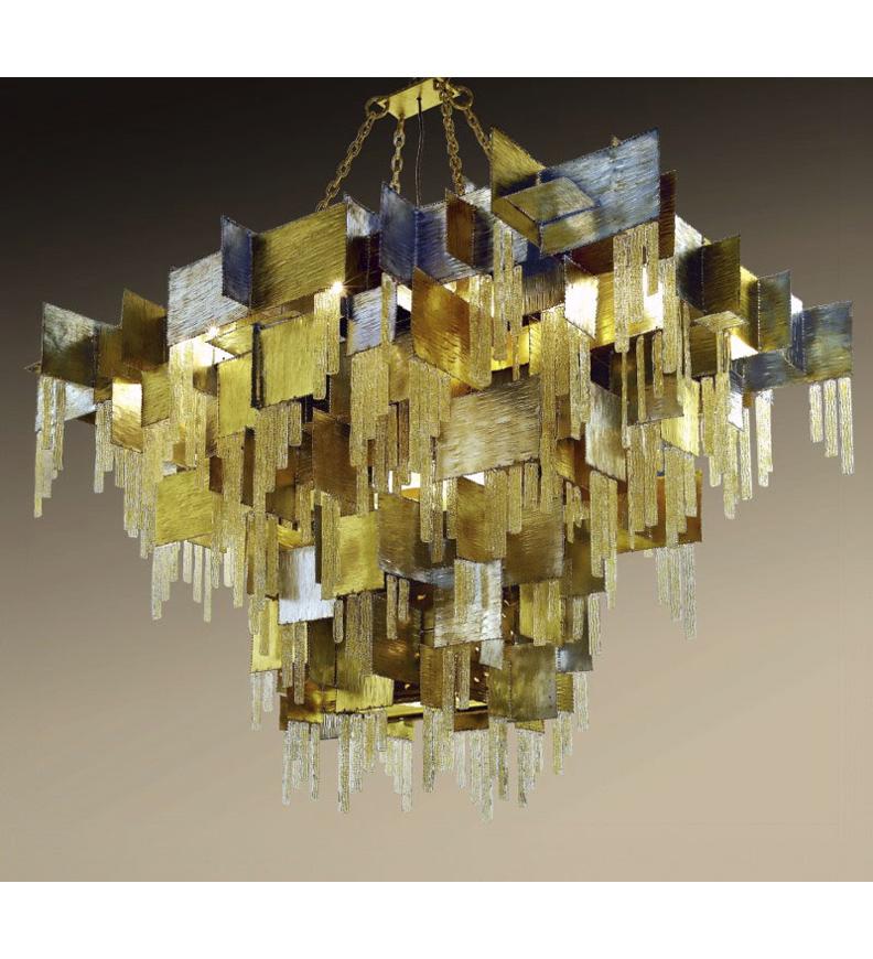 City design 28 light chandelier that has glass insert details behind city design 28 light chandelier that has glass insert details behind square metal sheets aloadofball Gallery