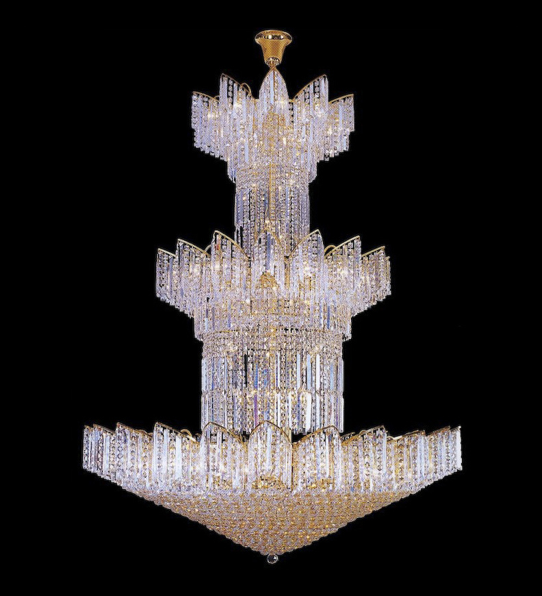 Tiered star shaped crystal chandelier home and furniture tiered star shaped crystal chandelier aloadofball Image collections