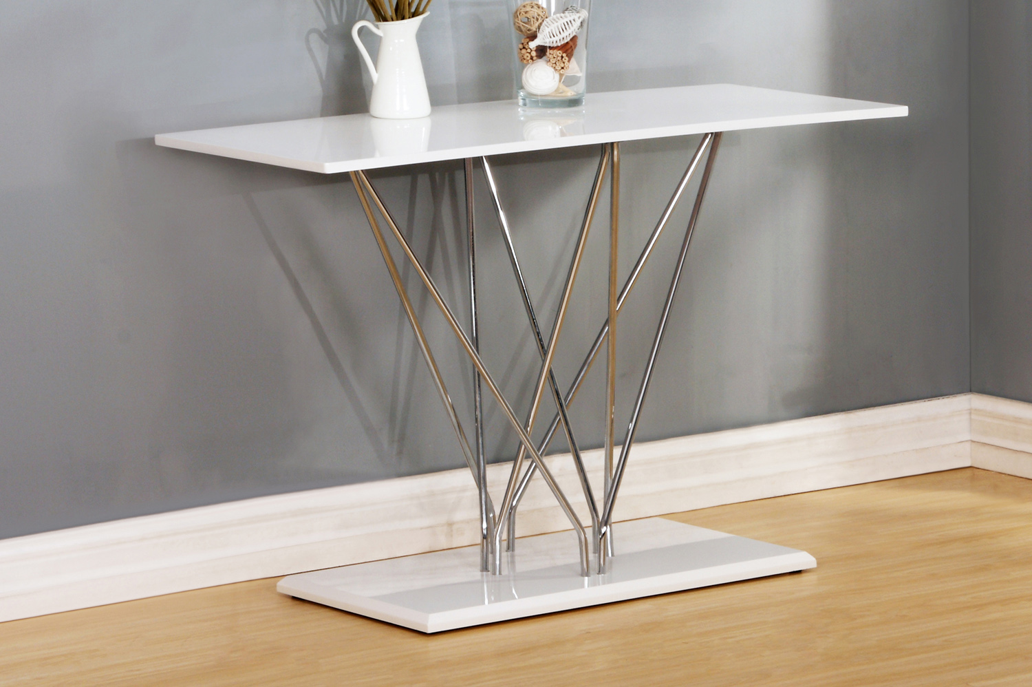 Hagley High Gloss White Console Table