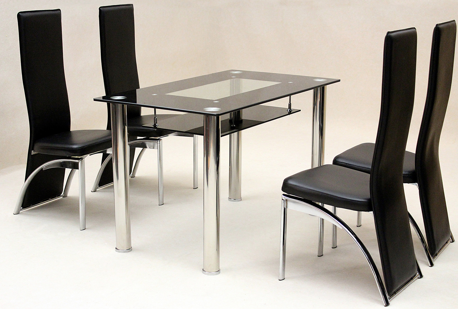 dining room sets las vegas | Vegas Small 5 Piece Dining Set with Durban Dining Chairs ...