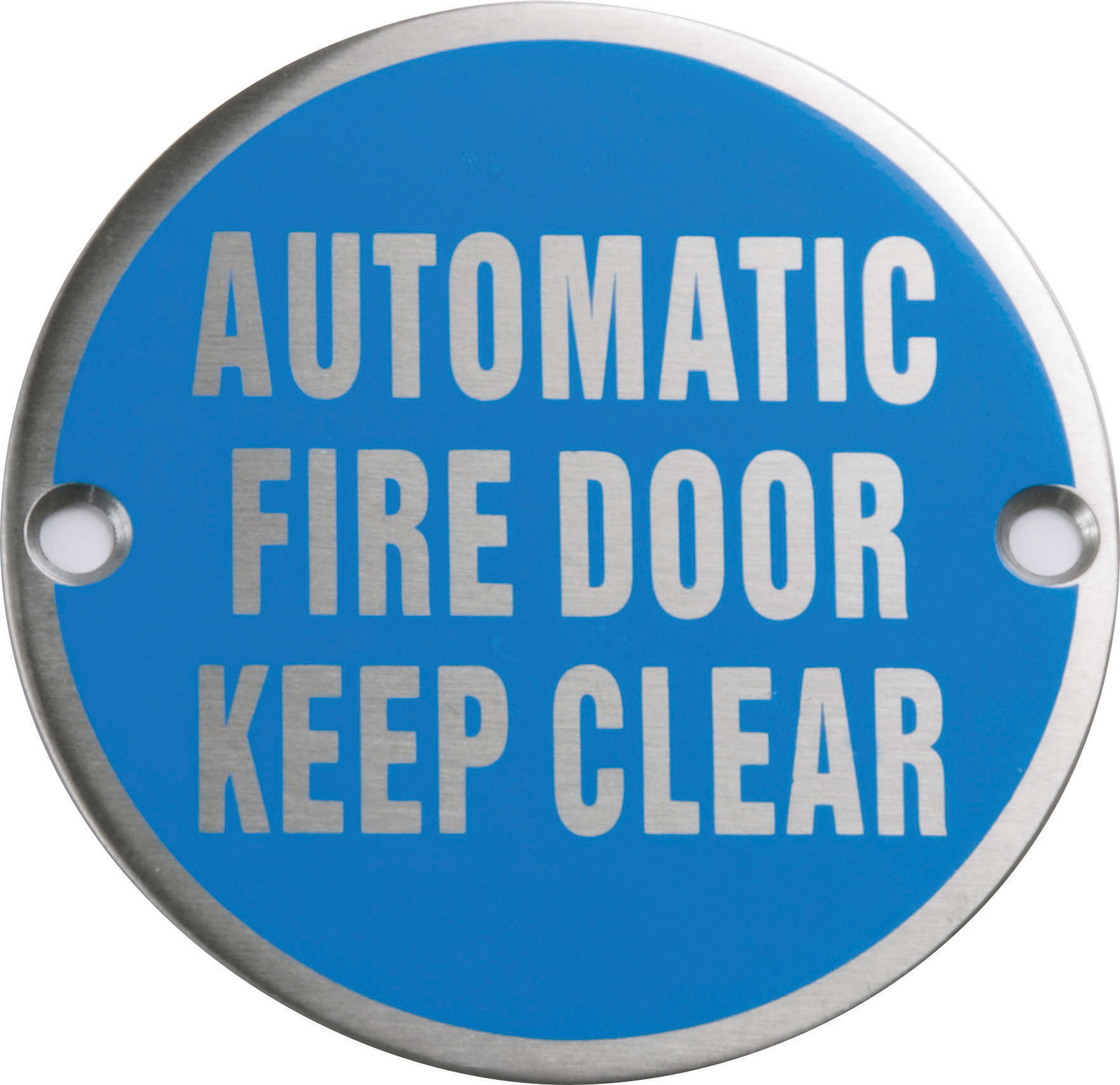 Automatic Fire Doors : Automatic fire door keep clear circular sign tools diy