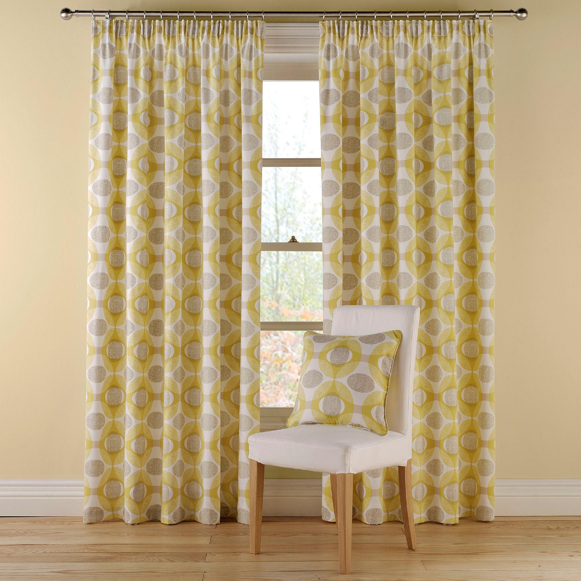 Delightful Pair Of Montgomery Olympic Pencil Pleat Curtains Home And