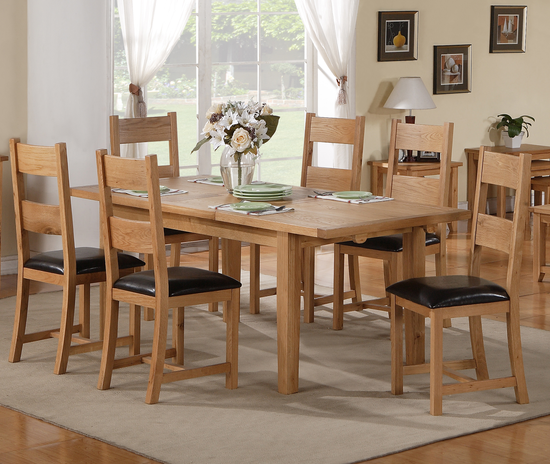 Stirling extending dining table