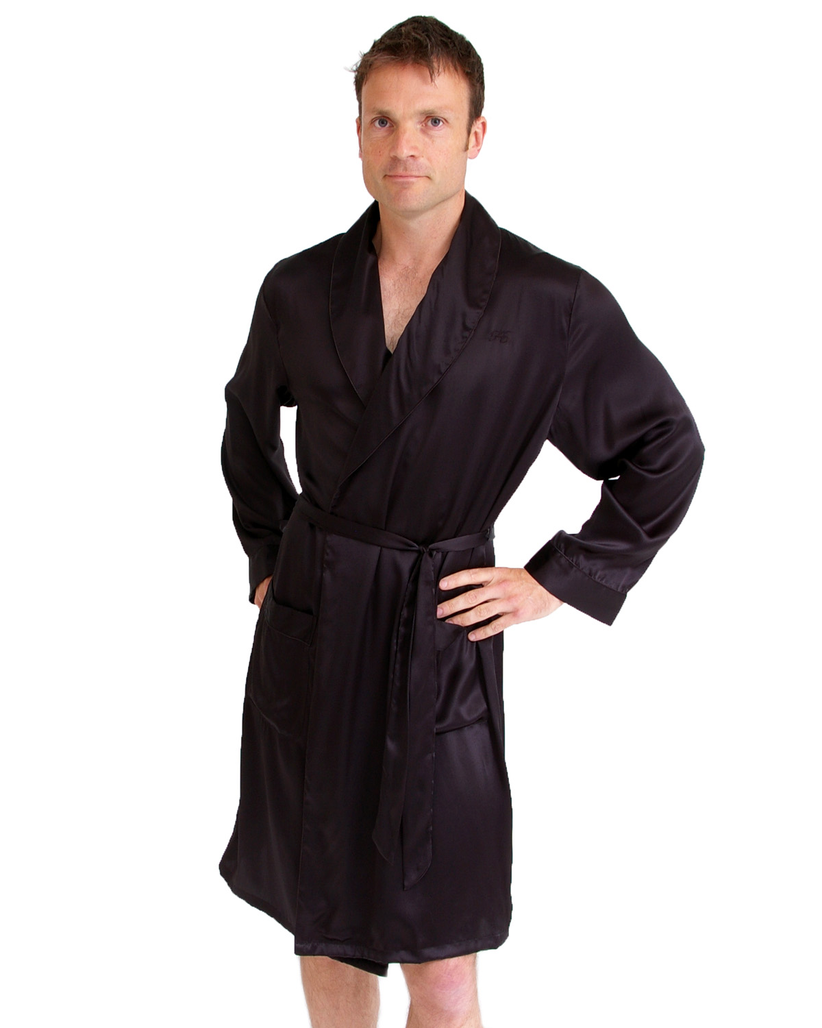 Short silk dressing gown - Clothing and Accessories - Clothing ...