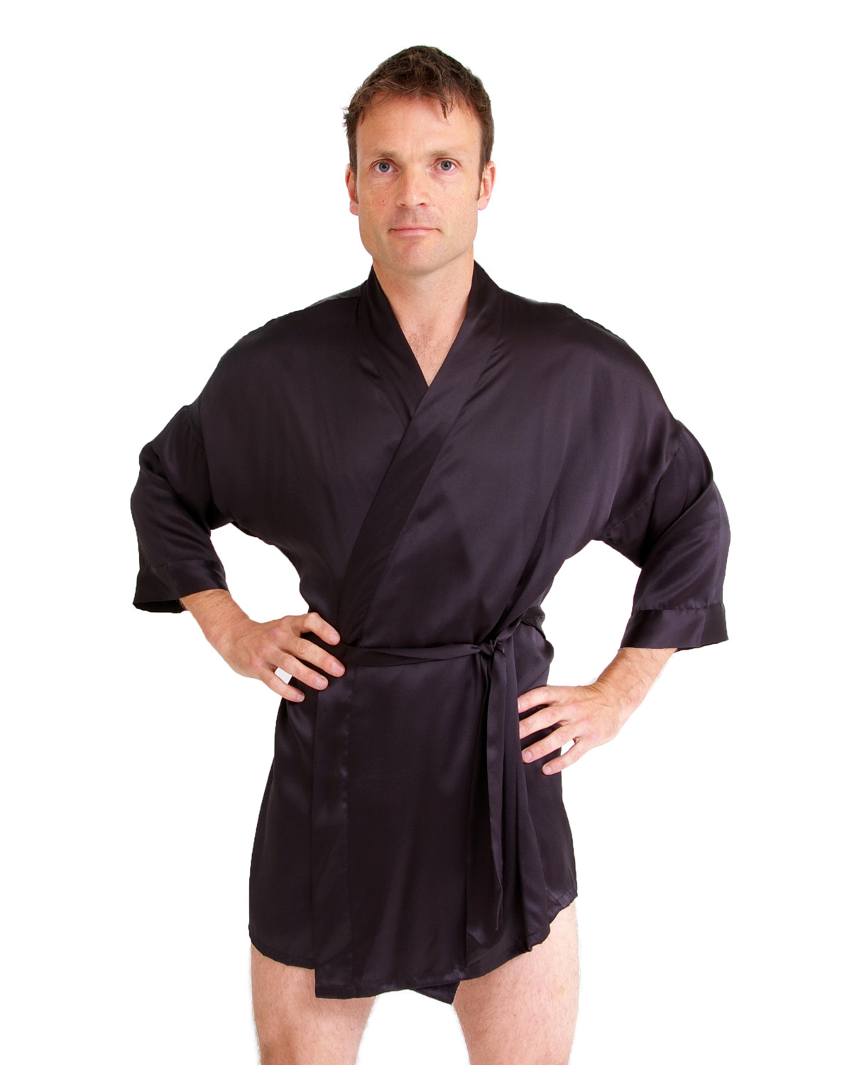 Dressing gowns are loose outer garments which can be used by men or women. You can wear it over other a piece of clothing or with nothing. A dressing gown is .