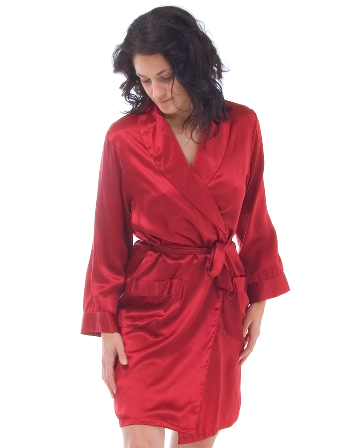 92083d6556 Short Silk Dressing Gown - Clothing and Accessories - Clothing ...
