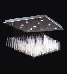 Large Floating Icicle Surface Mounted Chandelier