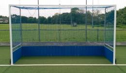 Pair of Premium Steel Hockey Goal with HDPE Backboards, Wheels, Nets and Stainless Steel Net Bars