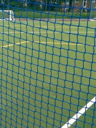 3mm Blue Polypropylene Knotless Hockey Goal Nets (pair) - 45mm Square Mesh