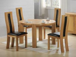 Zeus Round 5 Piece Dining Set with Shirley Dining Chair