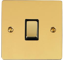Elite Flat Plate Polished Brass Collection