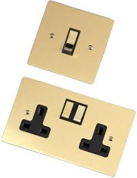 Ashley Norton Flat Plate Satin Brass Brushed Collection