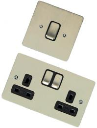 Stylist Grid Range Flat Plate in Satin Nickel