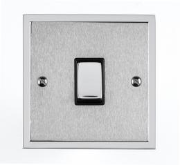 Elite Stepped Plate Satin Chrome Dual Finish Collection