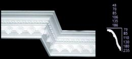 Tunnel & Egg Design Cornice