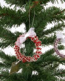 Beaded Christmas Wreath Decoration